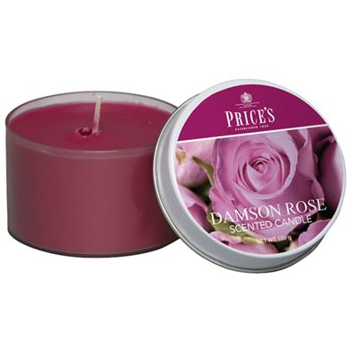 Damson Rose Candle drum by Price's 25hr